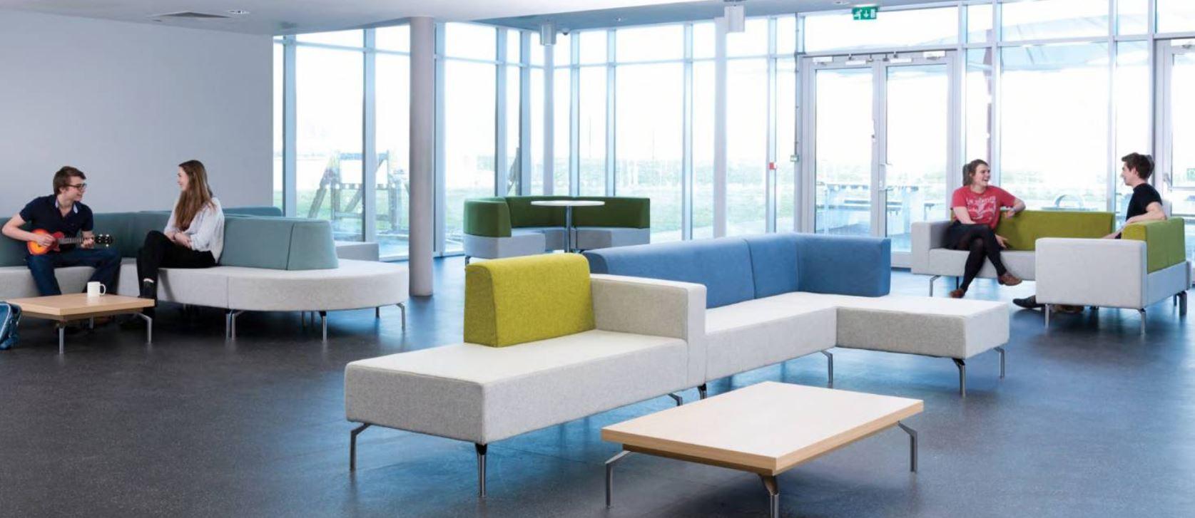 Skyline Modular Seating Two Tone Fabric In Situ