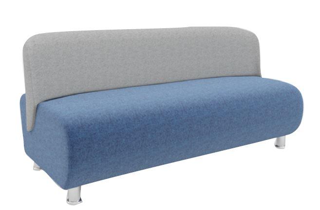 Solent Modular Soft Seating Three Seater Chrome Leg Unit