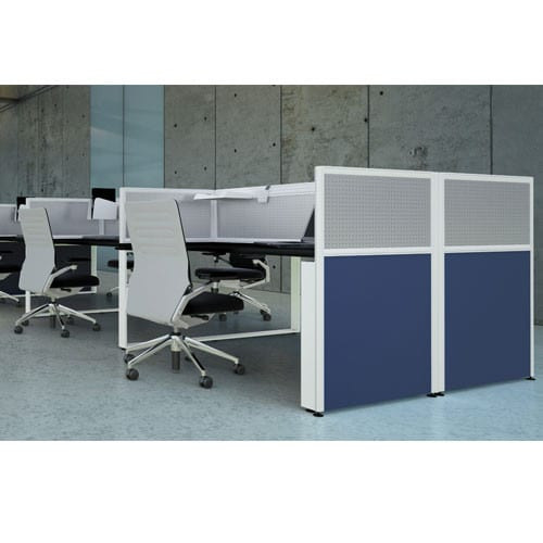 Sprint-Floorstanding-Office-Partitions-with-Perforated-Metal-Top-Panel