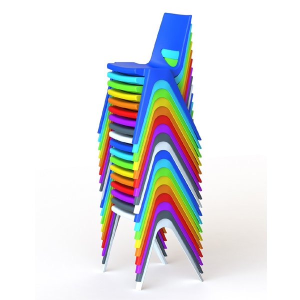EN One Polypropylene Chairs Stacked