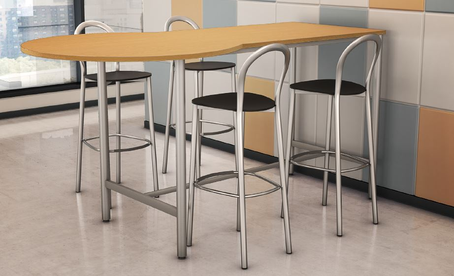 Stand Height Tables with Visa Stools