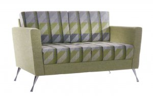 Stanza Reception Sofa Chrome Legs