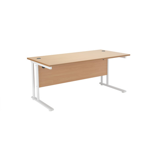 Cantilever Frame Office Desk Beech MFC