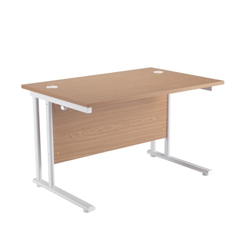Rectangular Oak MFC Cantilever Desk