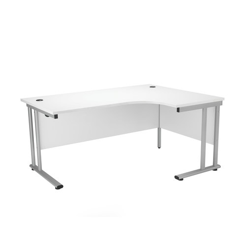 Start Crescent Cantilever Desk White MFC