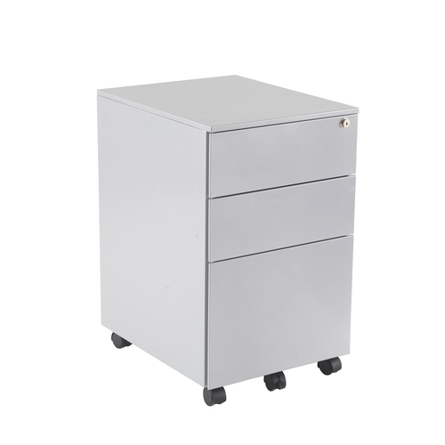 Silver Steel Under Desk Pedestal