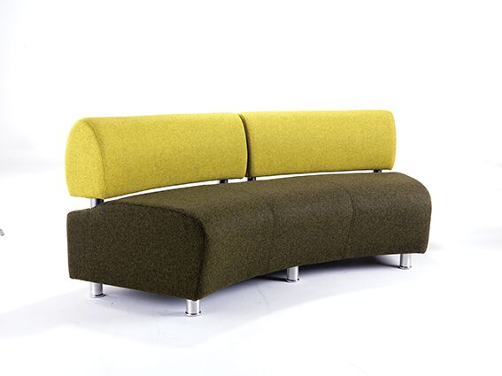 Startt Plus Modular Seating Chrome Legs