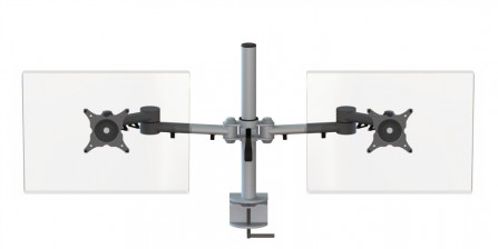 Streamcomb Double Monitor Arm with Clamp Fixing