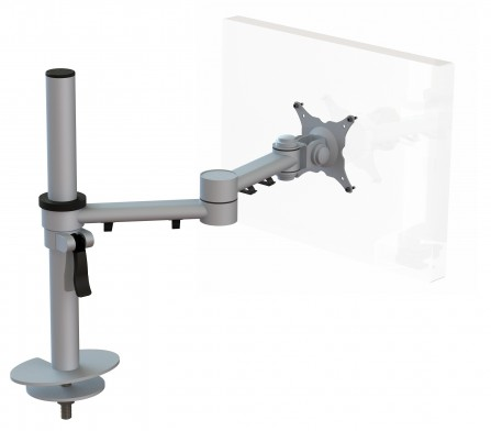 Streamcomb Monitor Arm with Through Desk Fixing