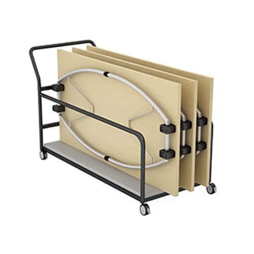 Telford-Fold-Leg-Meeting-Tables-Rectangular-Top-Folded-on-Trolley