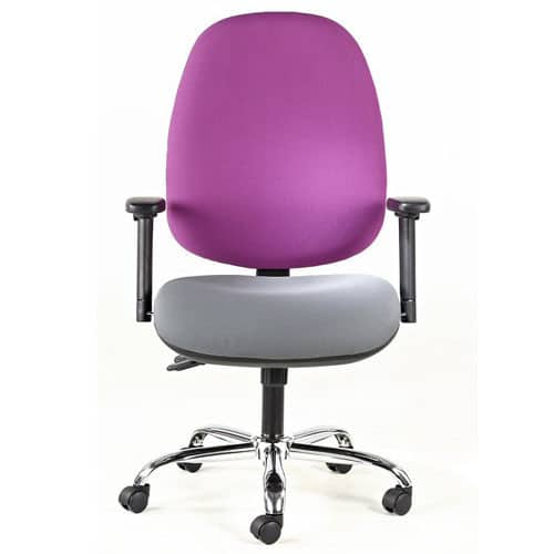 Titanium-High-Back-Task-Chair-With-Arms