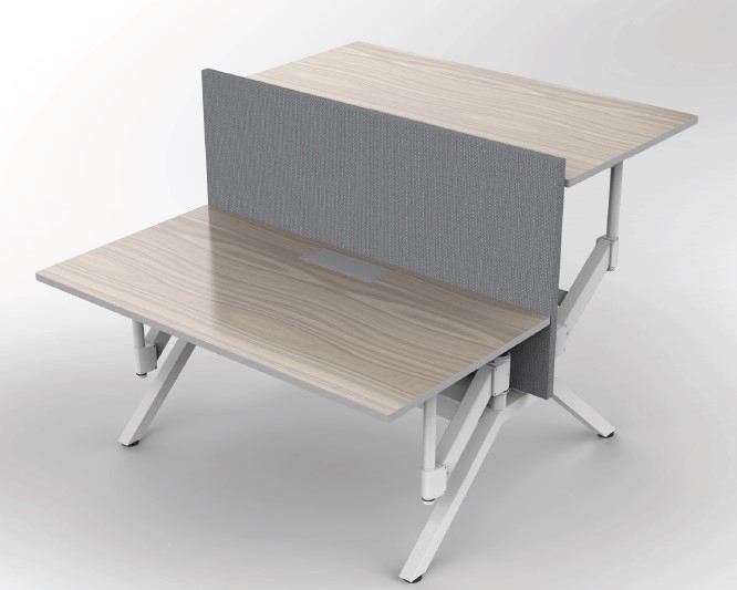 Gas Assisted Height Adjustable Desk