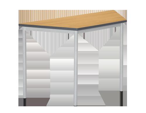 Trapezoidal RT32 Round Leg Classroom Table