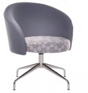 Tub Chair with Chrome Spider Base