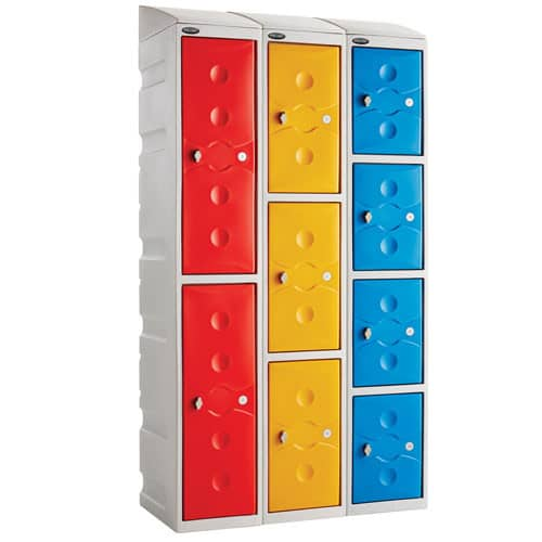 Ultrabox-Plastic-Lockers-with-Sloping-Top-Example-Set-Up