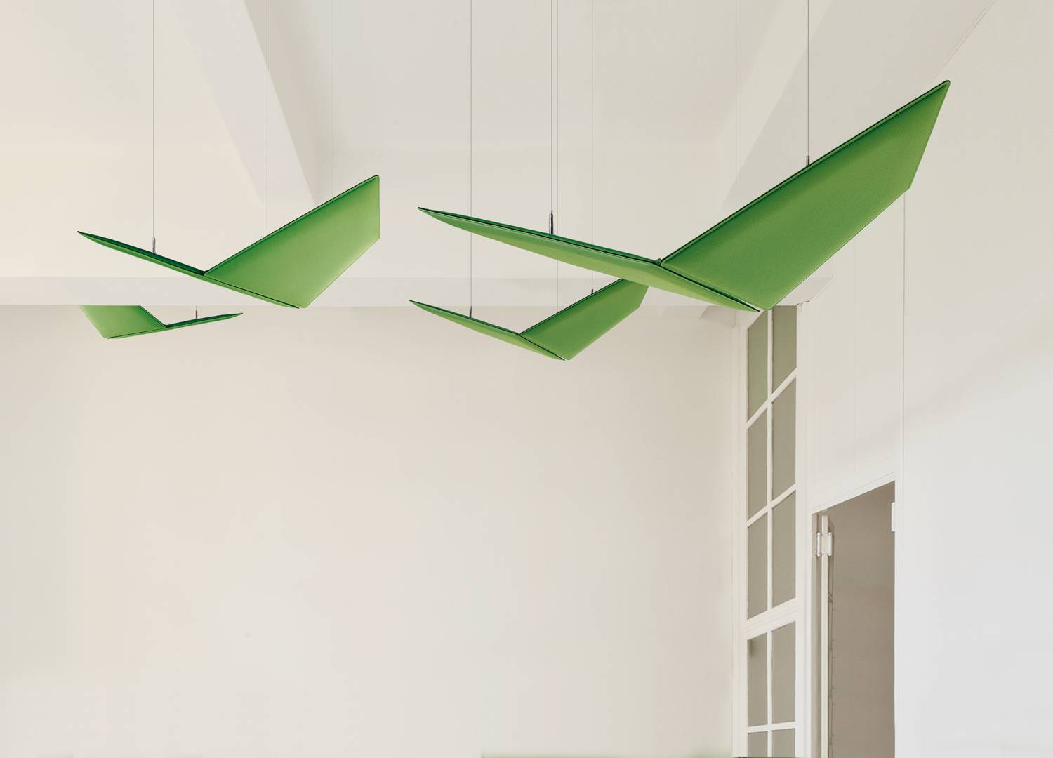 V-Flap-Ceiling-Suspended-Acoustic-Panels-Green