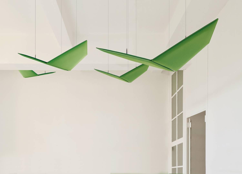 V-Flap-Ceiling-Suspended-Acoustic-Panels-Green