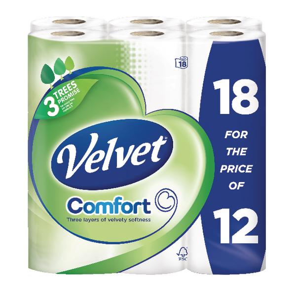 Velvet 18 Rolls Toilet roll