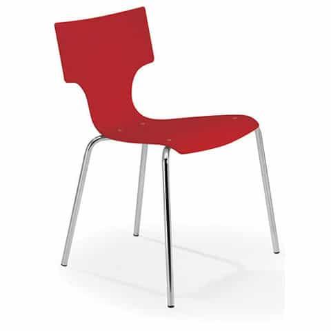 Visa-Plastic-Cafe-Chair-Chrome-Frame-Red-Shell