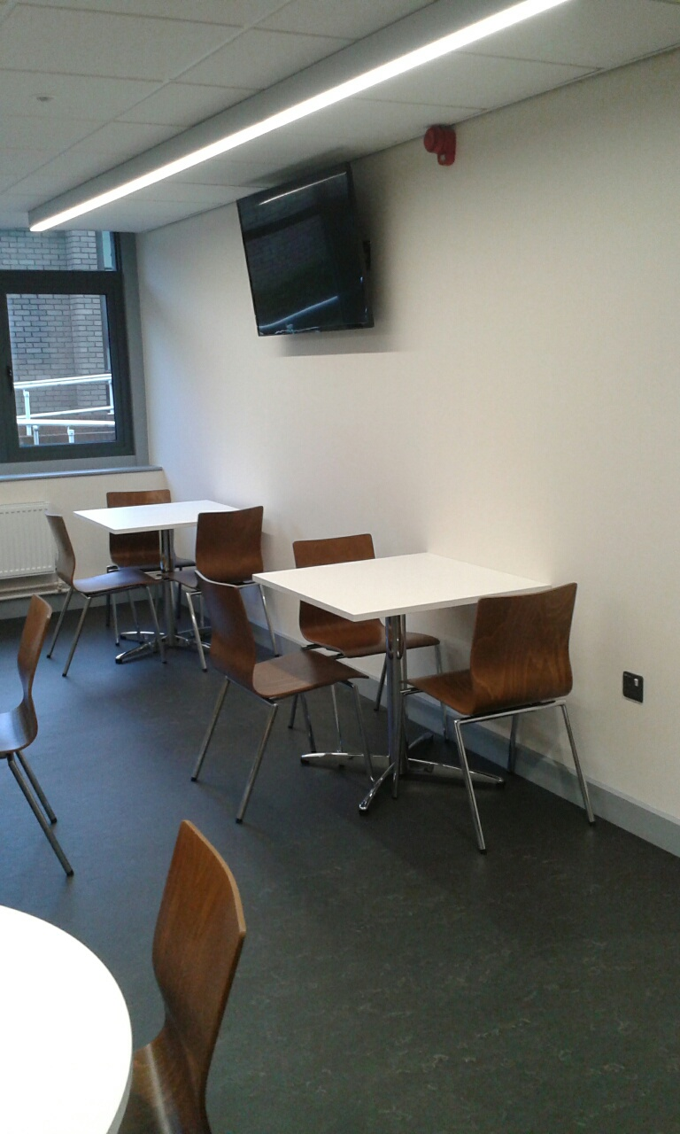 White LTC Tables and Espacio Chairs