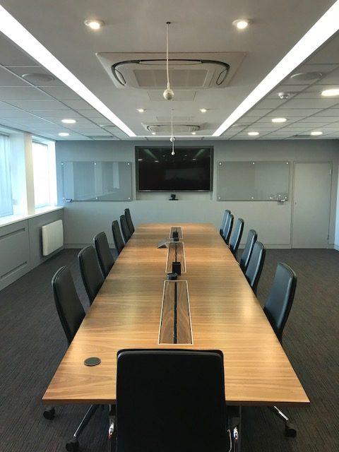 Walnut Veneer Boardroom Table Full