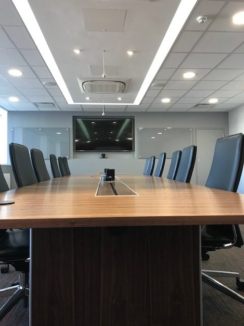Walnut Veneer Boardroom Table