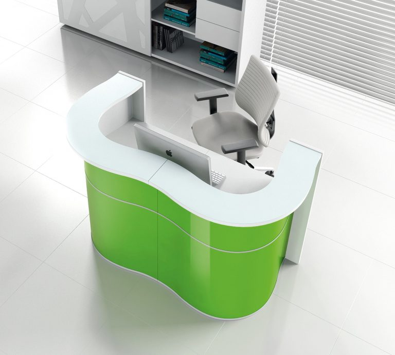 Wave Reception Desk Green