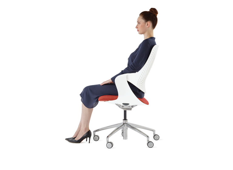 Woman Sitting in Boss Coza Chair