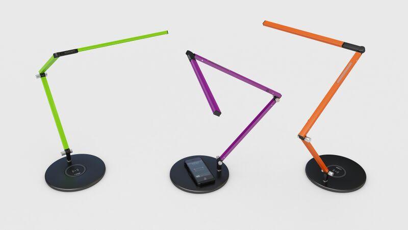 Lamp with Wireless Charging Base Orange Purple Green