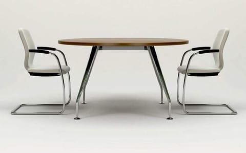Zenith-Round-Meeting-Table-Chrome-Base