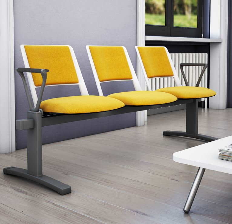 Zela-Fully-Upholstered-Beam-Seating-Grey-Frame-with Arms