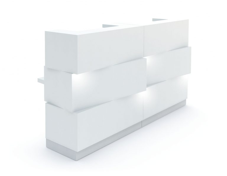 Zen Reception Desk White