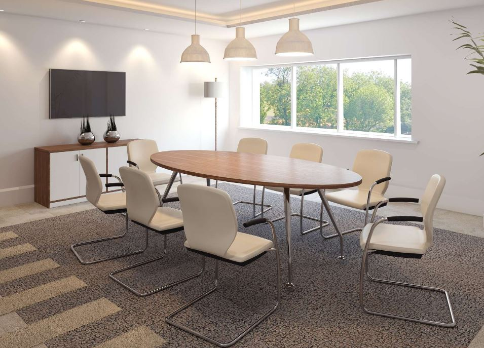 Zenith Chrome Meeting Room Table In Situ