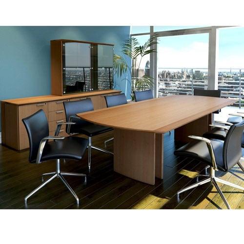 Zenith-Flat-D-Top-Special-Veneer-Meeting-Table-In-Office