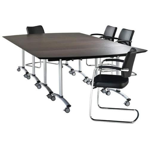 Zenith-Dark-Oak-Meeting-Table-Castor-Base
