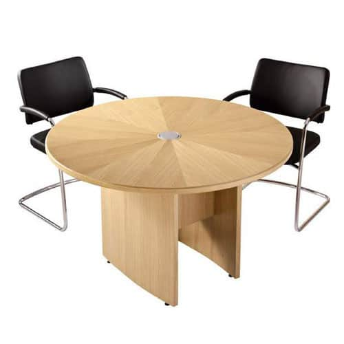 Zenith Round Top Meeting Table Oak Veneer