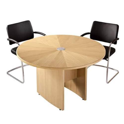 Zenith Round Top Meeting Table Oak Veneer