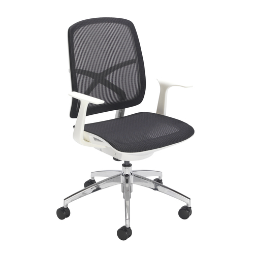 Zico Mesh Chair White Frame