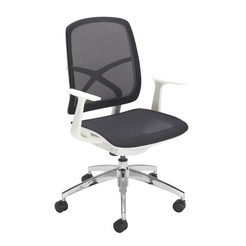 Zico Mesh Chair White Frame