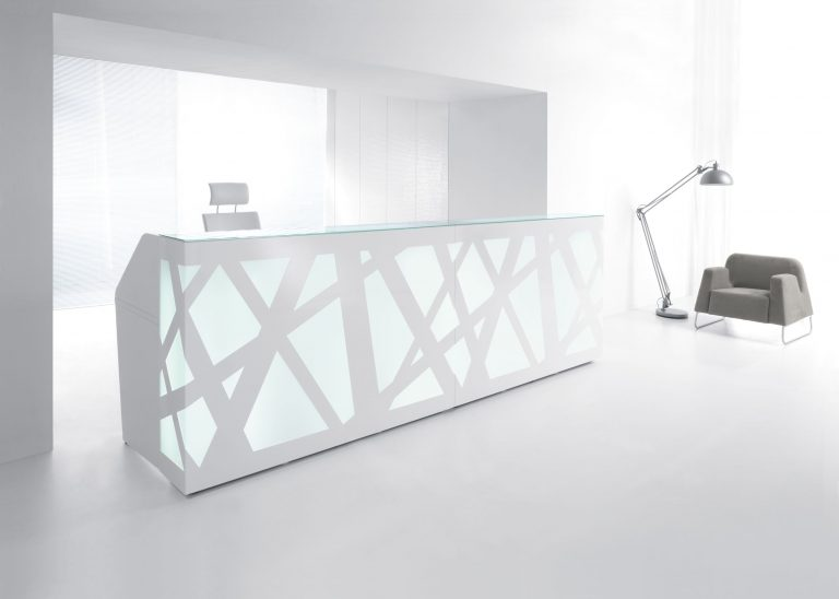 ZigZag Reception Desk White