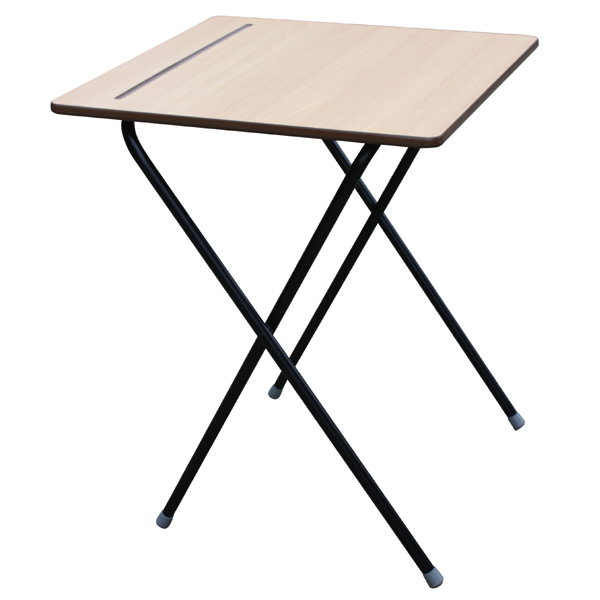 Zlite Standard Exam Desk Beech Top with Pen Groove