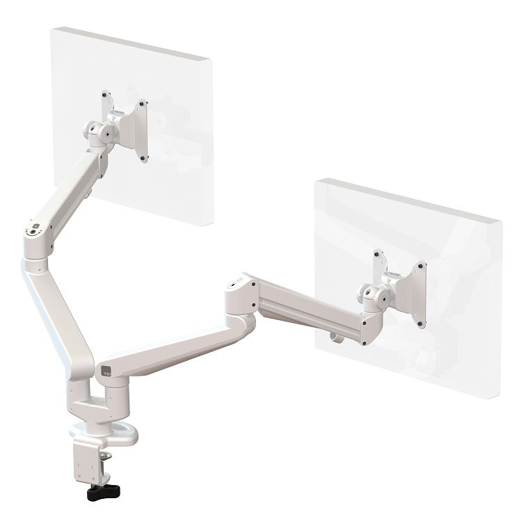 Ascend-Double-Monitor-Arm-White