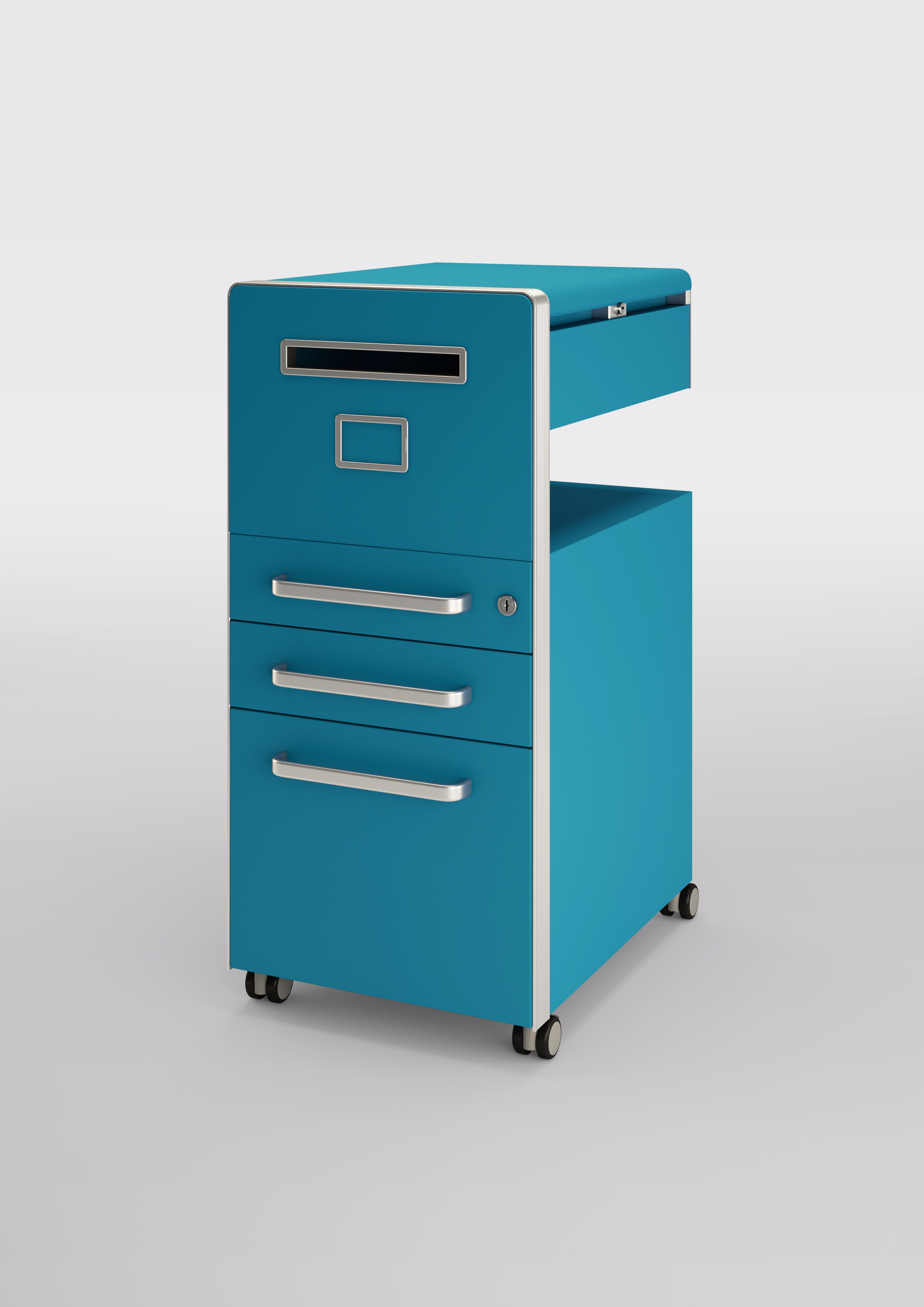 Biskey Bite Azure Blue Mobile Pedestal