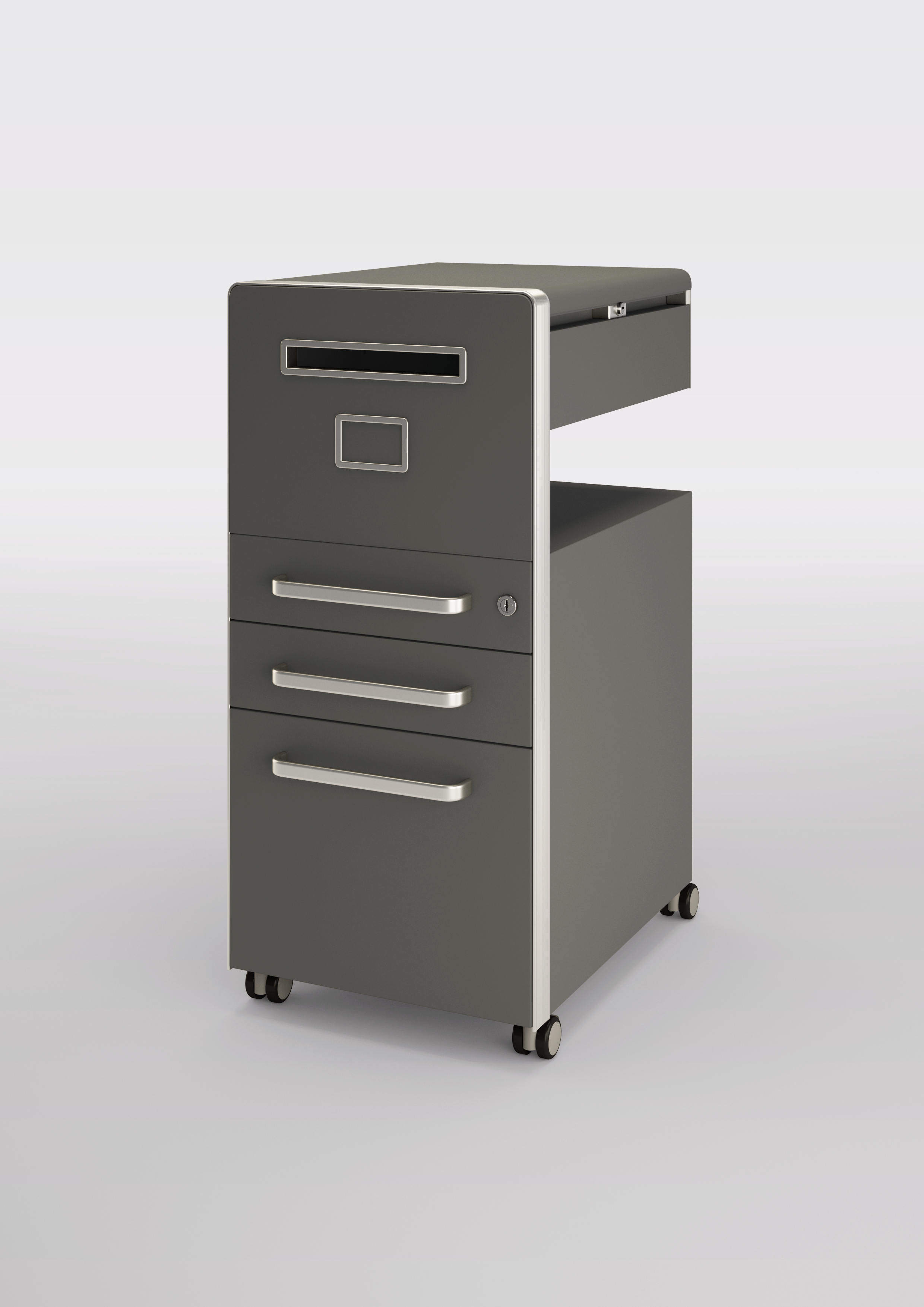 Bisley Bite Slate Mobile Drawer Pedestal