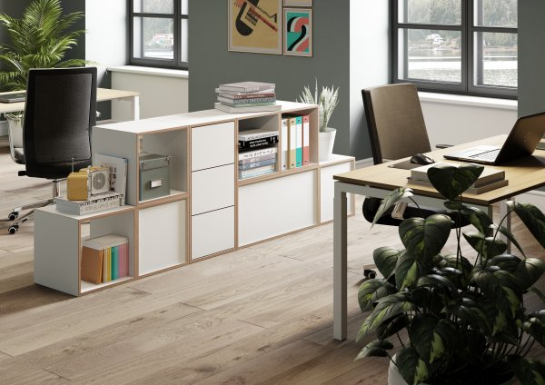 Bisley BOB Modular Storage Office Configuration
