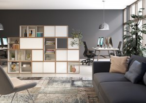 Bisley BOB Modular Storage as Office Room Divider
