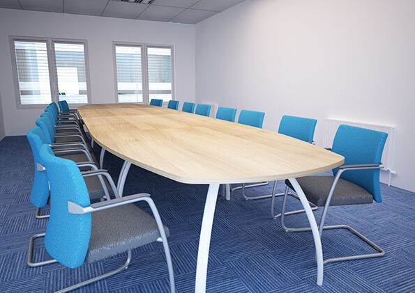 D3K-Boat-Shaped-Boardroom-Table-With-Blue-Chairs-In-Situ
