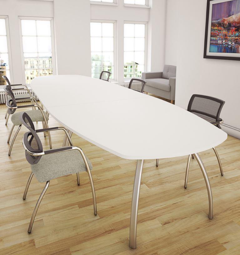 D3K-Boardroom-Table-White-Top-Silver-Legs-Lozenge-Shape