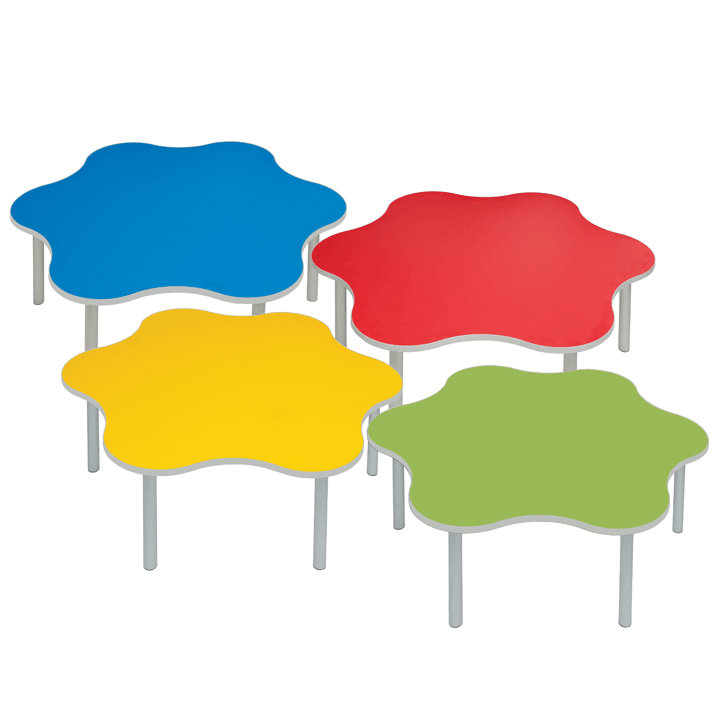 Enviro-Early-Years-Daisy-Shaped-Classroom-Tables-in-4-Colours