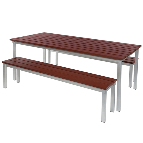 Enviro-Synthetic-Wood-Outdoor-Dining-Table-and-Benches